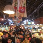 Crowd at Mercado de la Boqueria