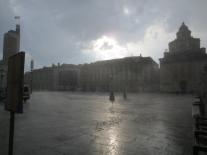Piazza Castello Rain