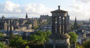 Dugald Stewart Monument and Edinburgh