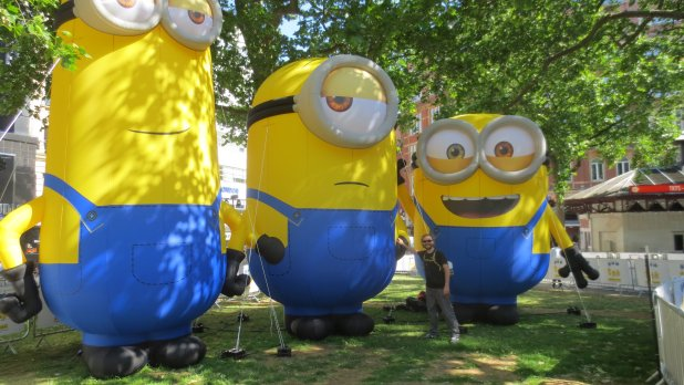 Selfie at Minions World Premier