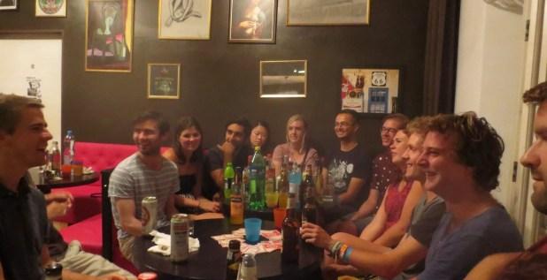 Friends at Hostel