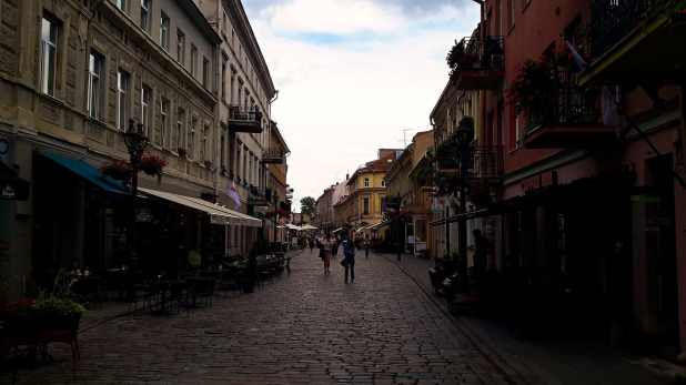 Vilnius Street, Main Street in Old Town Kaunas