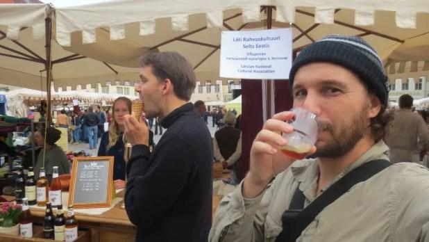 Selfie Drinking Beer