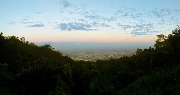 View of Chiang Mai from Doi Suthep Jungle