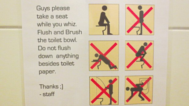 Toilets Around the World: Bathroom Sign