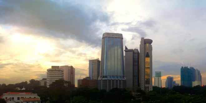 Kuala Lumpur Sunset from The Attic Bar and Travel Hub Hostel