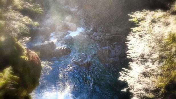 Girl Swimming in Lynn Canyon Falls