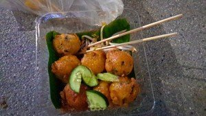 Street Food Seafood Balls for 40 baht