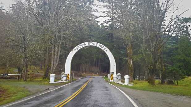 Entrance to Moran State Park