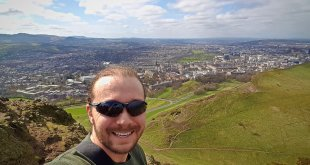 Selfie on Hike up Arthur's Seat