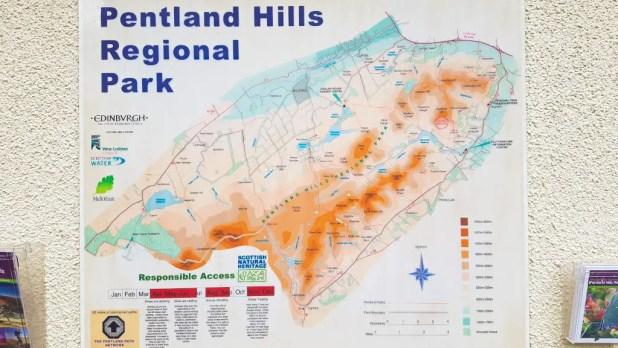 Map of the Pentlands