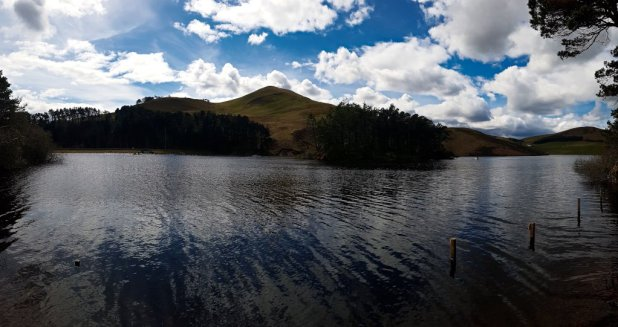 Glencorse Reservoir in the Pentlands