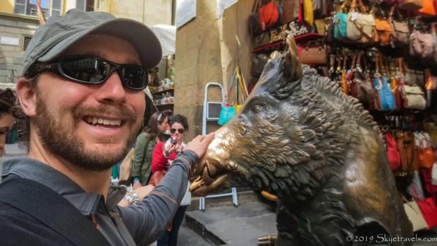 Selfie with El Porcellino