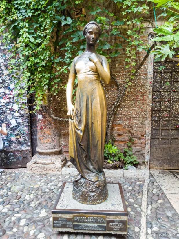 Statue of Juliet in Verona