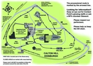 Beltane Fire Festival 2016 Map