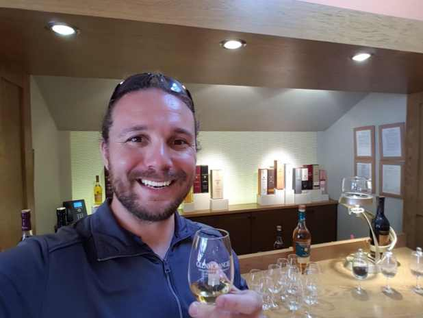 Selfie Tasting Whiskey at Glenmorangie Distillery #6