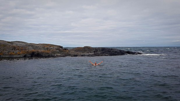 Swimming in the Baltic