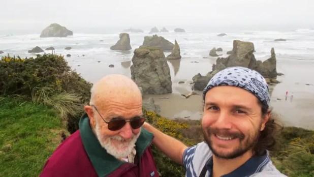 Dad and I on Oregon Coast