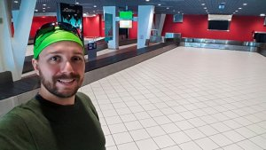 Selfie in Lyon Airport