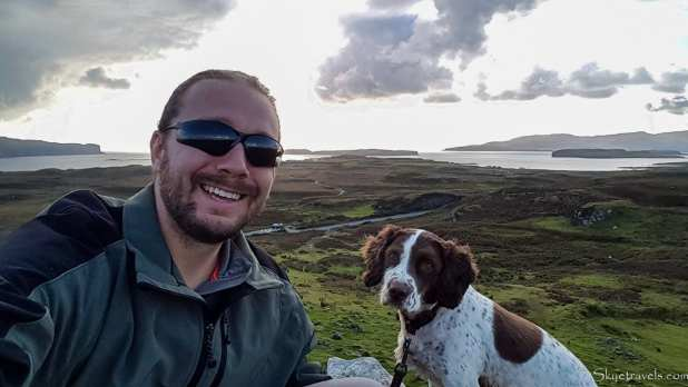 Selfie with Dog on the Isle of Skye