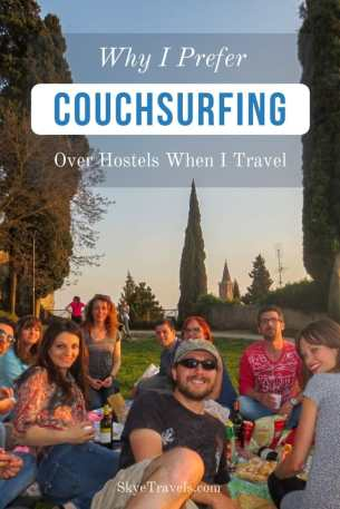 Why I Prefer Couchsurfing Over Hostels When I Travel Pin
