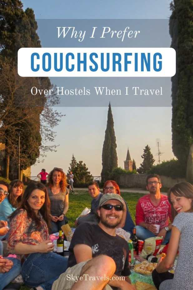 I'm a budget traveler. Couchsurfing is definitely the cheapest lodging you can get, but it's actually not the primary reason why I use the website. #Couchsurfing #TravelTips
