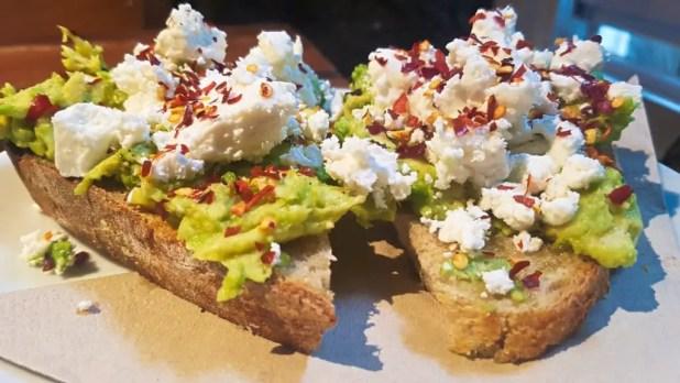 Avocado and Feta Sandwich at Brew Lab