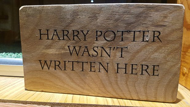 Harry Potter Wasn't Written Here