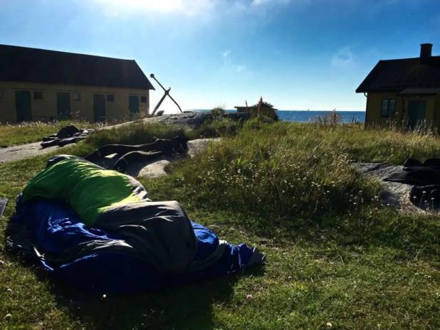 Sleeping on Utklippan