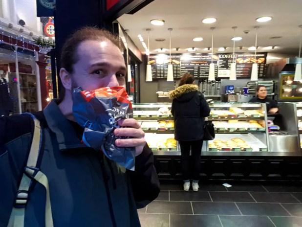 Selfie Eating Cornish Pastie