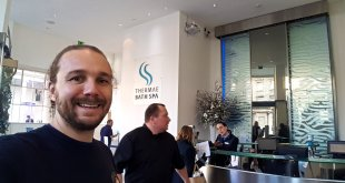 Selfie at Thermae Spa in Bath