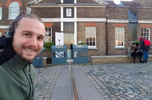 Selfie at the Prime Meridian in Greenwich