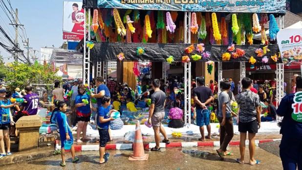 Festivities at Songkran