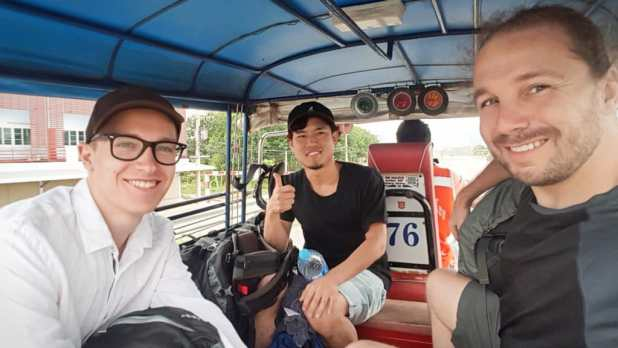 Friends on Tuk Tuk