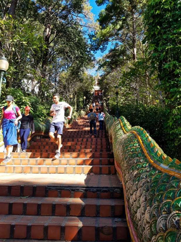 Stairs to Wat Phra That