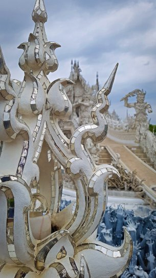White Temple Decorations #2