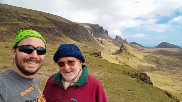 Dad and I at the Quiraing