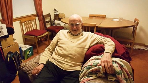 Dad at Rob's Home
