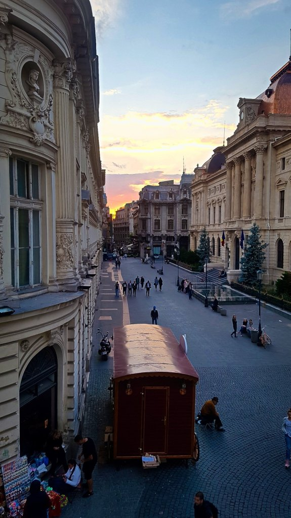 Sunset in Europe's Newest Old Town