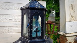 Water Bottle Lantern at Bellu Cemetery