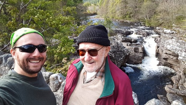 Selfie with Dad at Invermoriston