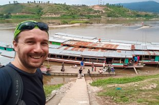 Selfie at Slow Boat in Laos