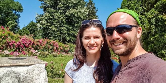 Madalina and I at Cluj Botanical Gardens