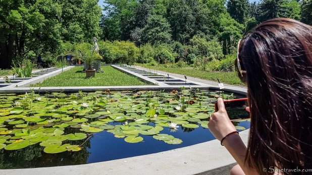 Madalina at Cluj Botanical Gardens