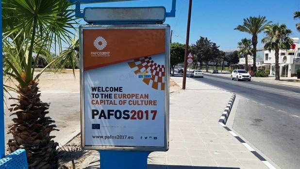 Paphos Capital of Culture Sign