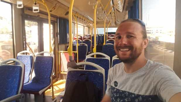 Selfie on Cyprus Bus
