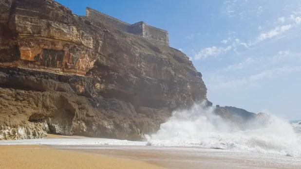 Castle Lighthouse above Waves