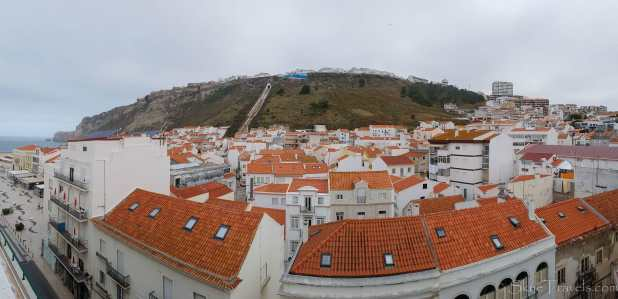 Nazare Panorama from Hotel Mare