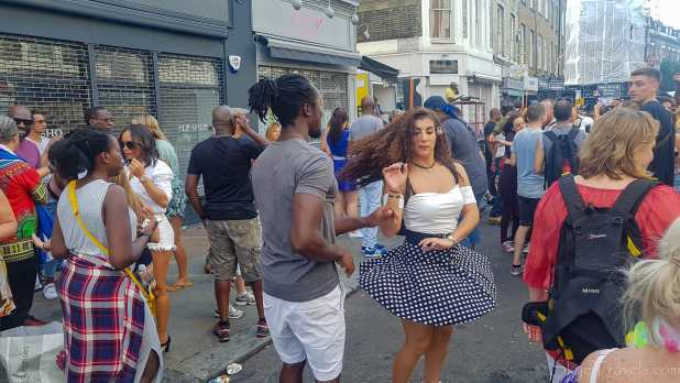 Dancers at Notting Hill Festival