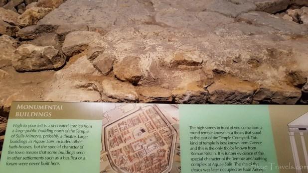 Monumental Buildings Info at the Roman Baths